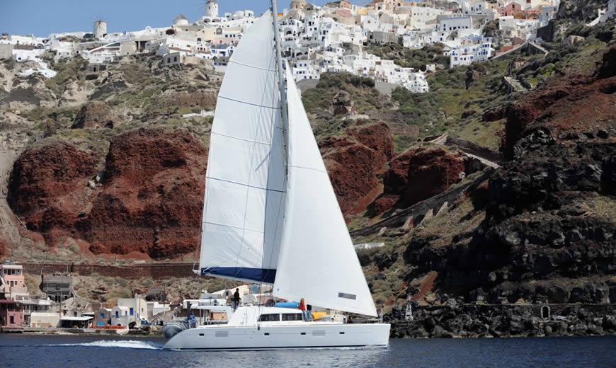 Catamaran & Motor Yacht Cruises in Santorini